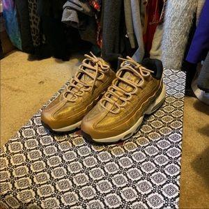 Gold Nike Air Max Sneaker
